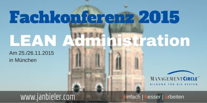 Fachkonferenz 2015 - Lean Administration in München