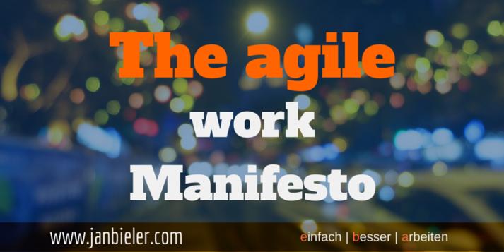 Titelbild - the agile work manifesto - einfach besser arbeiten
