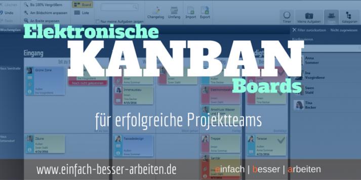 Beitragsbild - elektronische Kanban für Projektteams